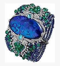 HIGH JEWELRY BRACELET ... Platinum, opal, sapphires, emeralds, Paraiba tourmalines Photographic Print