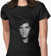 Elvis drawing Women's Fitted T-Shirt