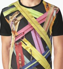 Zippers for clothes on black Graphic T-Shirt