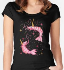 Uni-Prawn In Space - Black Women's Fitted Scoop T-Shirt