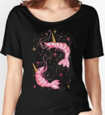 Uni-Prawn In Space - Black Women's Relaxed Fit T-Shirt