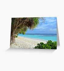 Exotic island in the Maldives Greeting Card