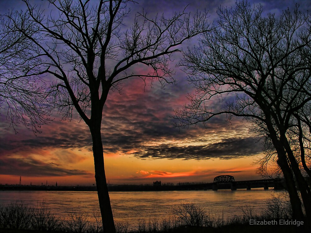 Ohio River Sunset by LizzieMorrison