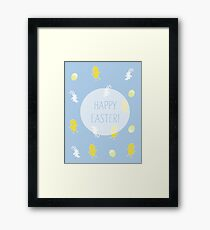 Happy Easter! (Blue) Framed Print