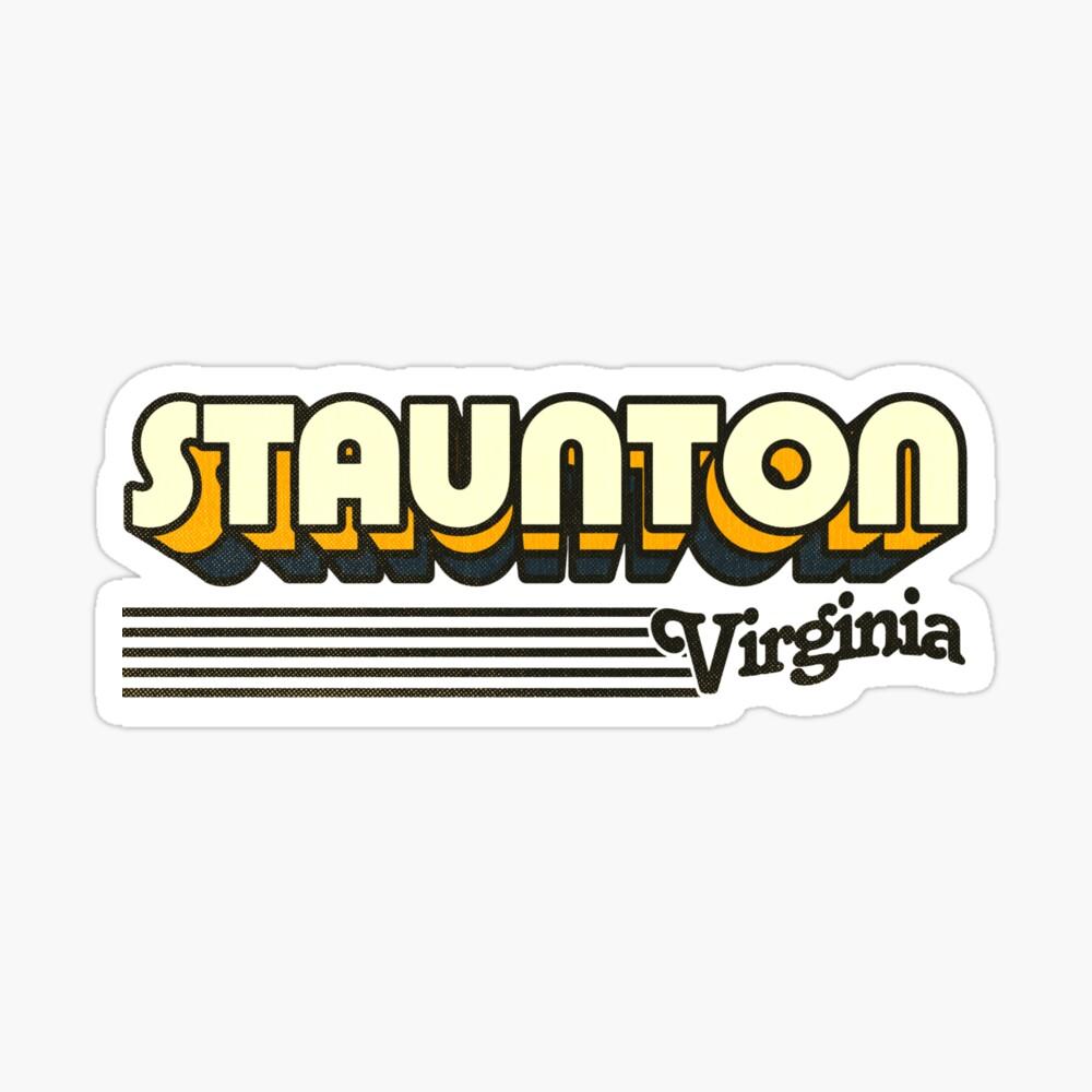 Staunton, Virginia | Retro Stripes Sticker