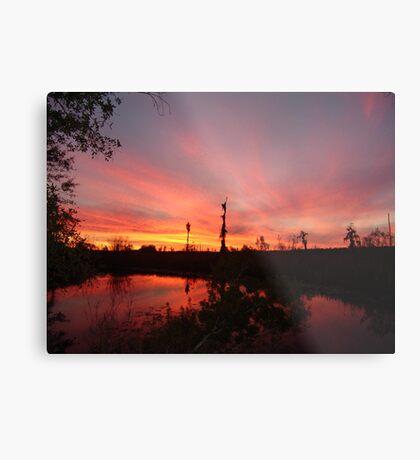 Sunset Lightshow Metal Print