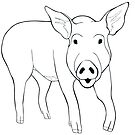 Happy Piglet by Linda Ursin