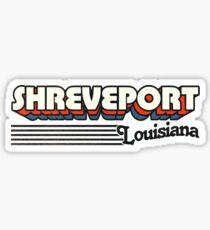 Shreveport, Louisiana | Retro Stripes Sticker