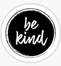 Be kind - Black Sticker