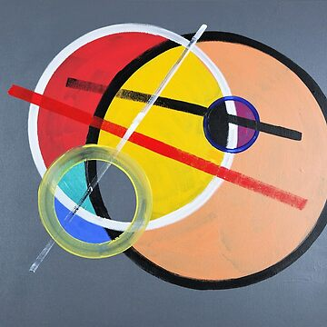 Circles and lines Abstract 345 by artsale