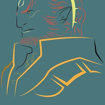 Ganondorf outline by destructopanda