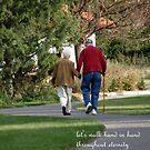 Walking hand in hand by Cricket Jones