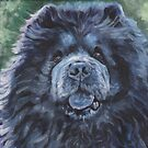 Black Chow Chow fine art dog painting by lashepard