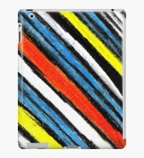 Colored Stripes (original drawing) iPad Case/Skin