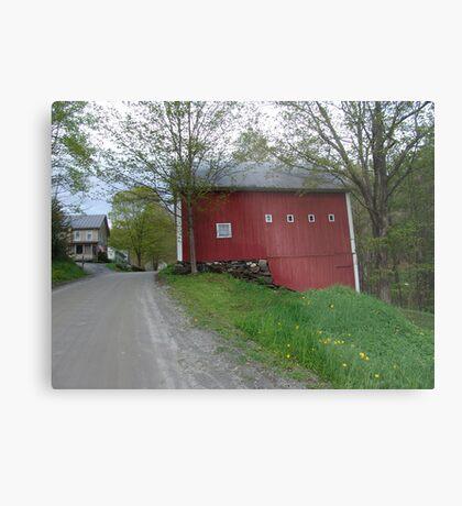 Red barn - West Calais, VT Metal Print