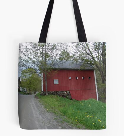 Red barn - West Calais, VT Tote Bag