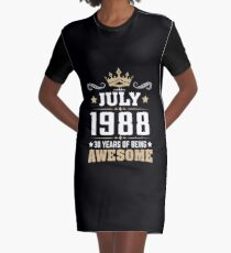 July 1988 30 years of being awesome Graphic T-Shirt Dress