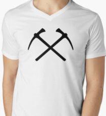 Climbing picks axe Mens V-Neck T-Shirt
