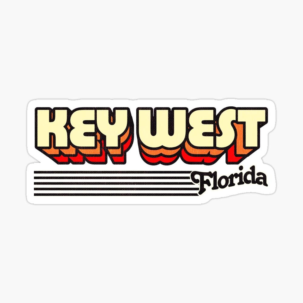 Key West, Florida | Retro Stripes Sticker