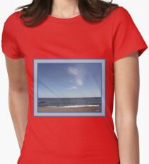 Beach Womens Fitted T-Shirt