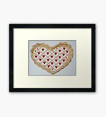 Heart basket Framed Print