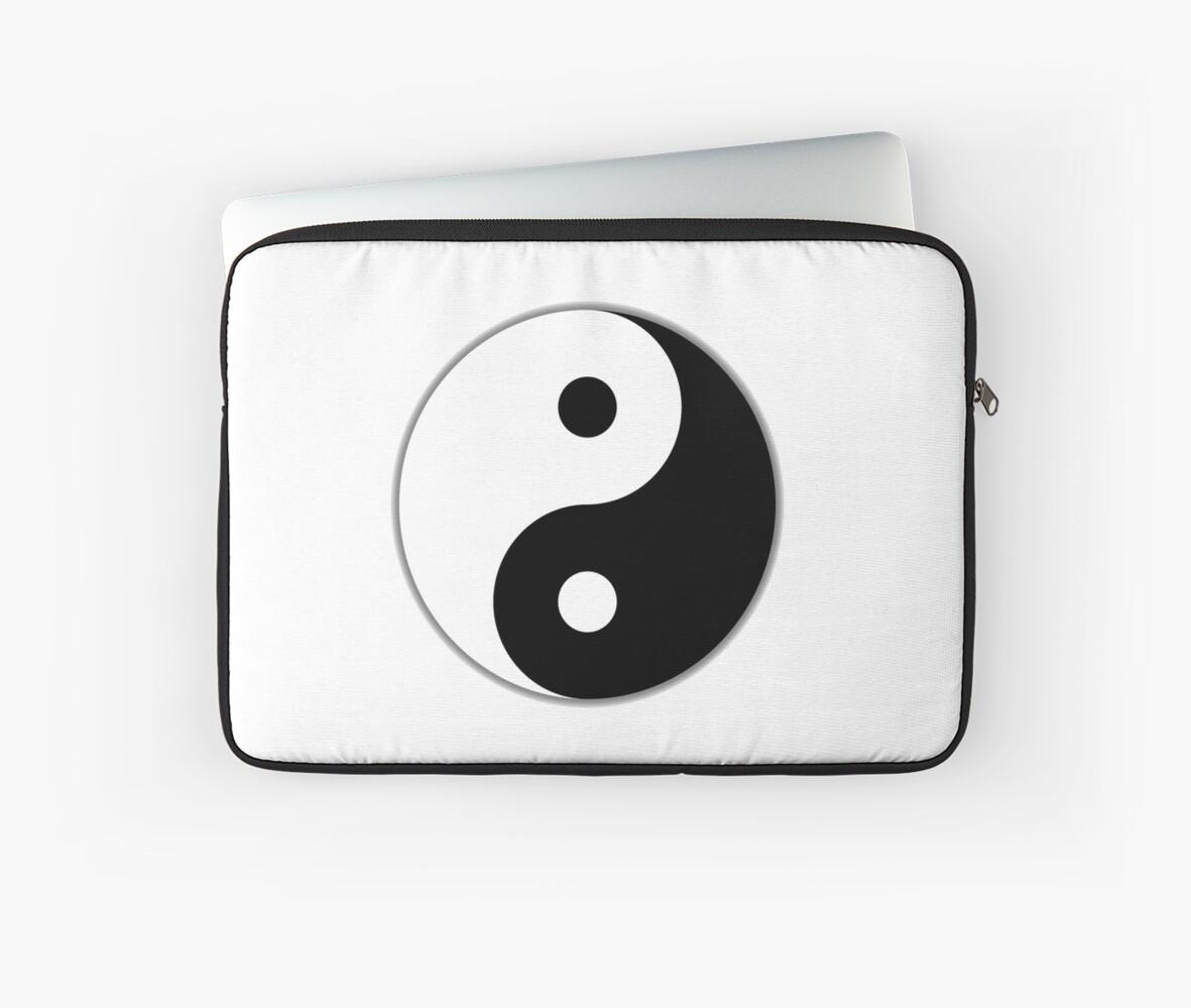 Yin Yang Chinese China Symbol Tai Chi Martial Art Mma Laptop