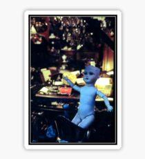 Doll at Paris Flea Market Sticker