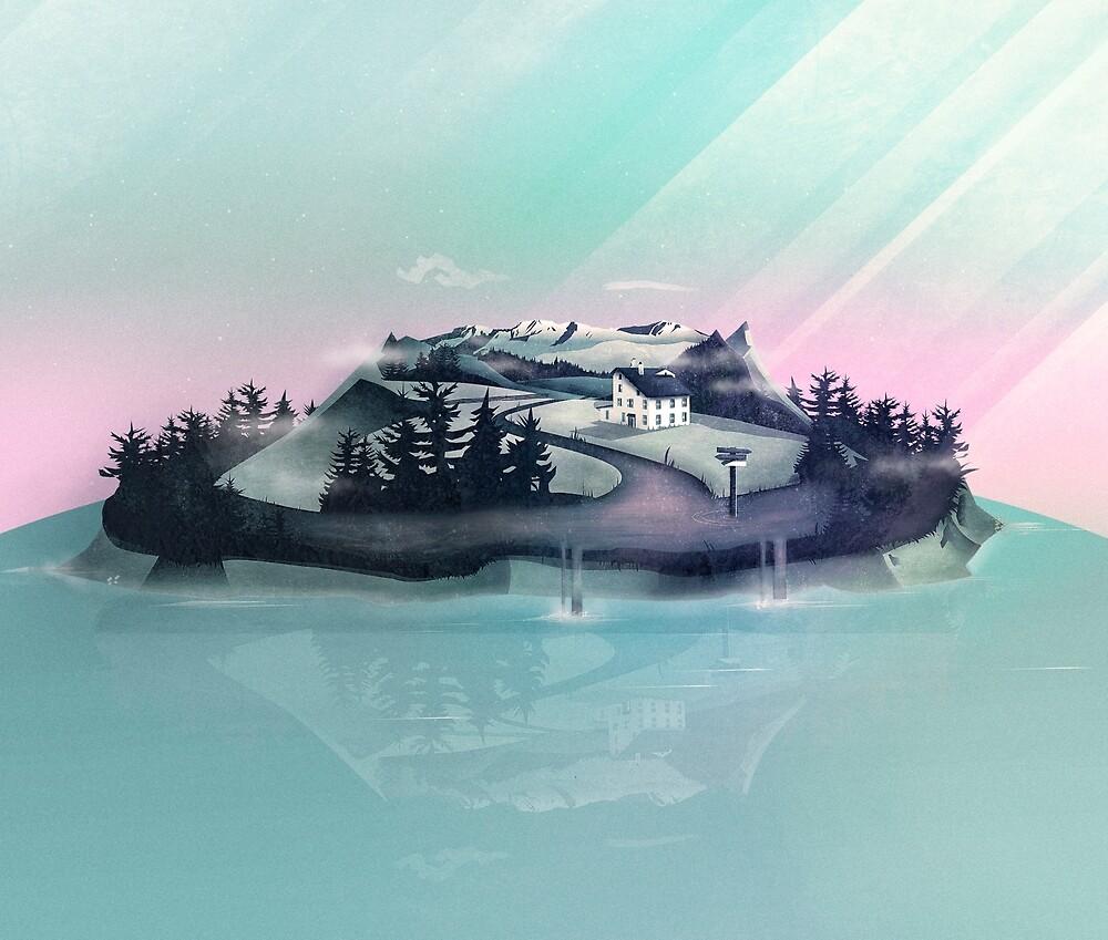 Alpine Island von schwebewesen