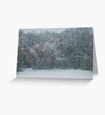 Fall Snowstorm Greeting Card
