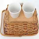 Teacups on a basket by NicPW
