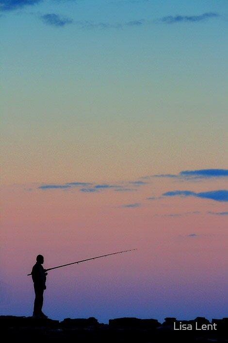 Lone Fisherman by Lisa Lent