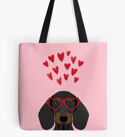 Dachshund dog breed pet art valentines day doxie must haves Tote Bag