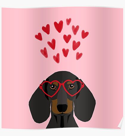 Dachshund dog breed pet art valentines day doxie must haves Poster