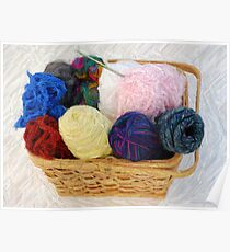 yarn in a basket Poster