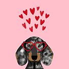 Dachshund dog breed pet art valentines day doxie must haves by PetFriendly