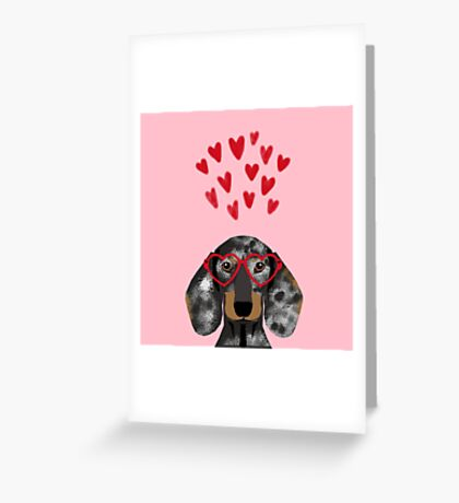 Dachshund dog breed pet art valentines day doxie must haves Greeting Card