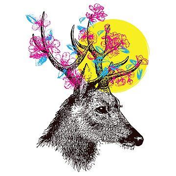 Deer Spring by anxlih