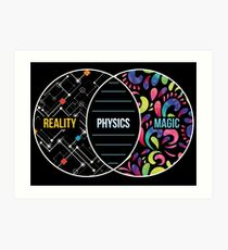 Physics Like Magic But Real - Funny Physics Pun Gift Kunstdruck