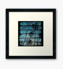 Tropical Brush Strokes Framed Print