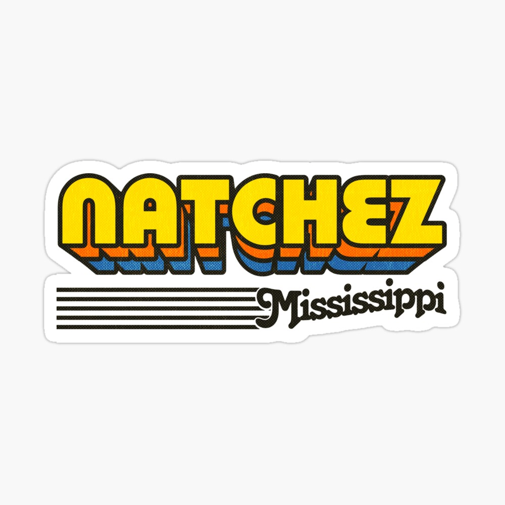 Natchez, Mississippi | Retro Stripes Sticker