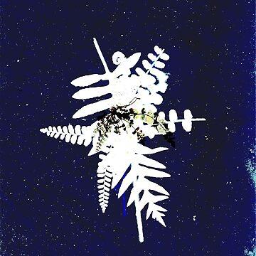 Fern cyanotyp 01 by HaricotteShop
