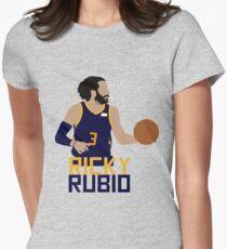 Ricky Rubio Utah Jazz Women's Fitted T-Shirt