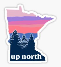Pegatina Puesta de sol del norte de Minnesota