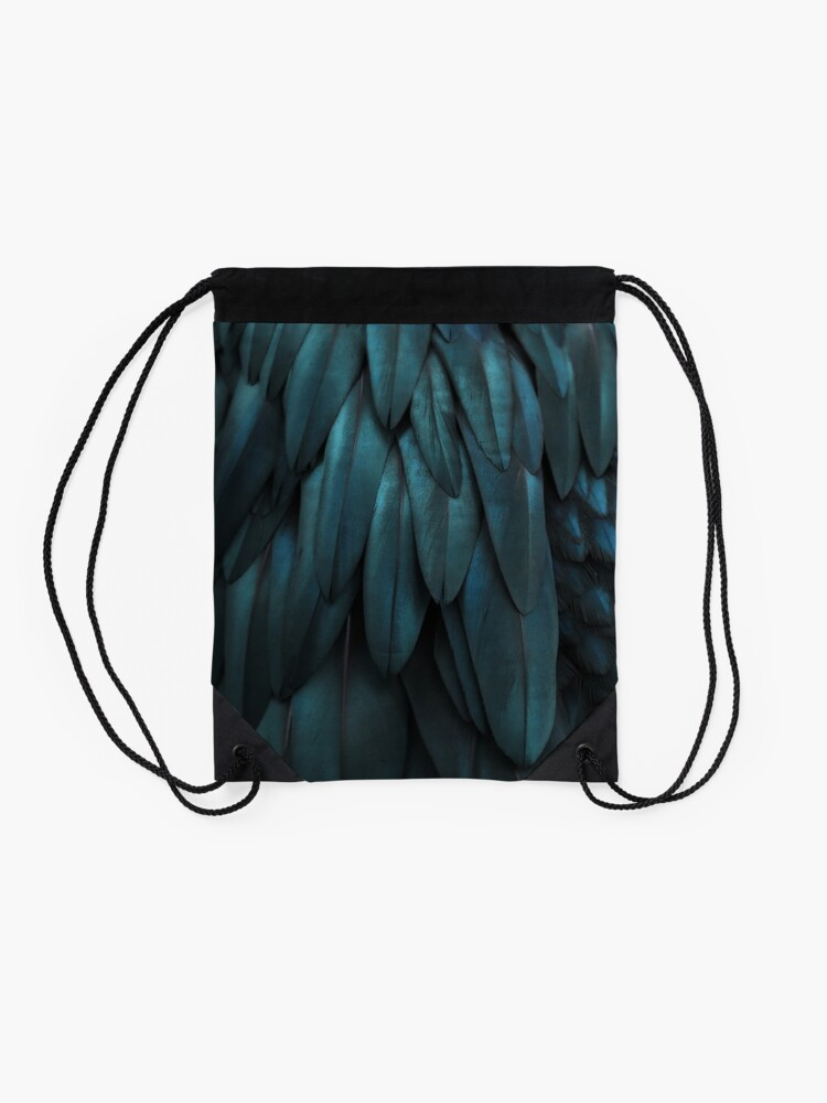 Alternate view of DARK FEATHERS Drawstring Bag