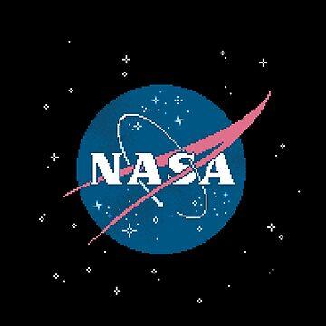 NASA Meatball (Pixel Art) by sp8cebit