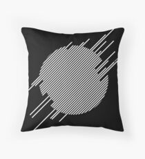 ABshapes in a disc (w) Throw Pillow