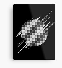 ABshapes in a disc (w) Metal Print