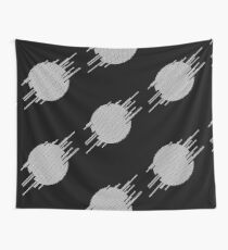 ABshapes in a disc (w) Wall Tapestry