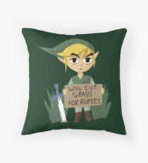Looking For Work - Legend of Zelda Throw Pillow