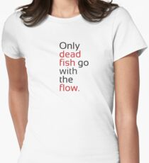 Dead Fish black/red Women's Fitted T-Shirt